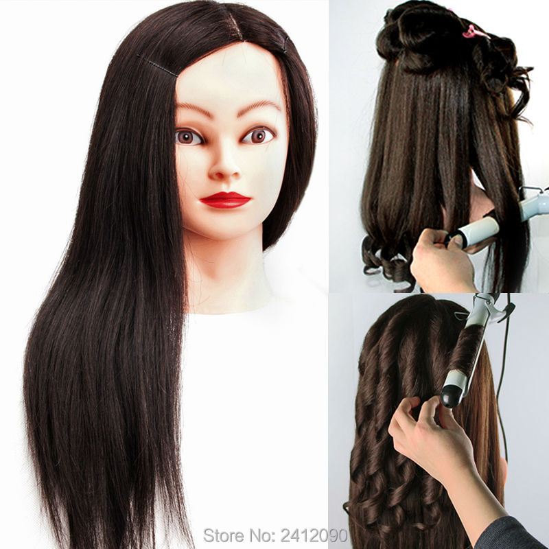 professional hair styling heads black 100 human hair mannequin can curl hairdressing 3068