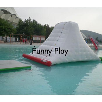 Inflatable iceberg with climbing wall for sale summer water park iceberg with slide rock climbing mountain water iceberg фото