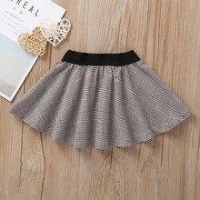 Infant Baby Kids Girls Plaid Ruffle Mini Pettic Skirt Princess Petticoat Clothes girls tutu skirts tule rok meisje meisjes rokje