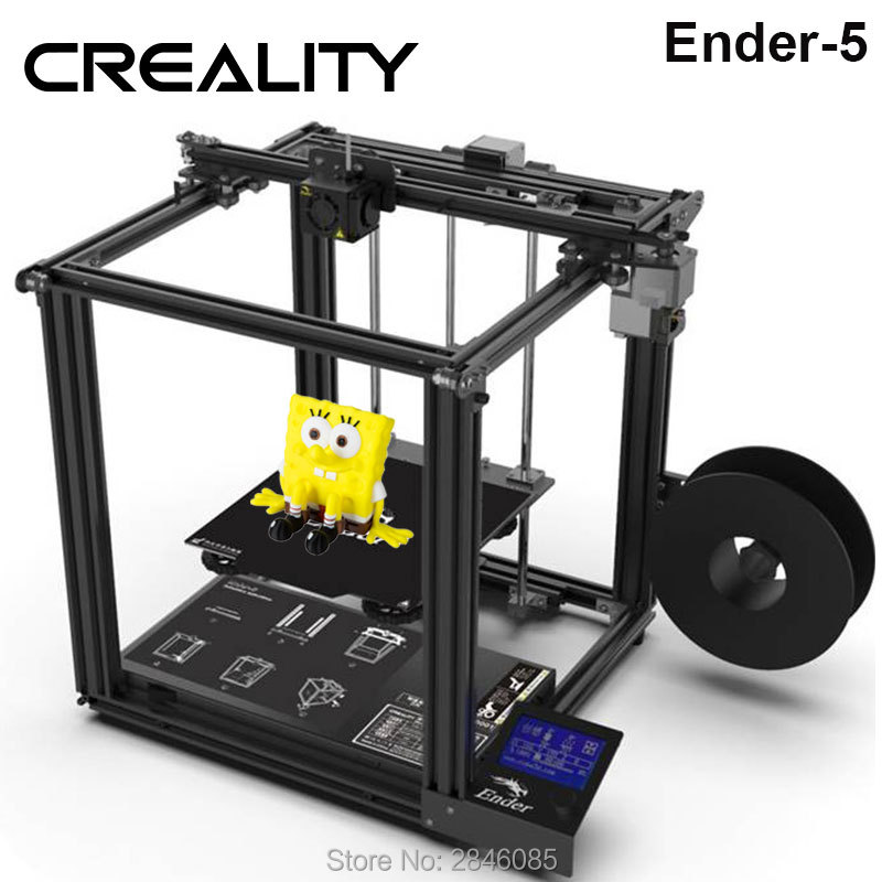 CREALITY 3D Printer Ender-5 with Landy stable Power, V1.1.3 Mainboard magnetic build plate, power Off Resume