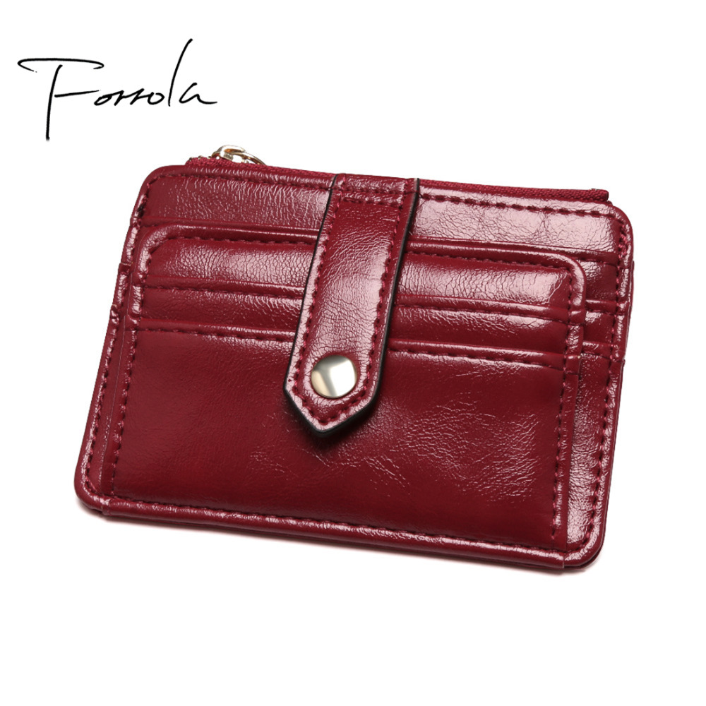 Ultra Thin Vintage Women Leather Small Change Wallet Card Holder Female Retro Slim Money Key Purse Coin Purses Holders For Girls