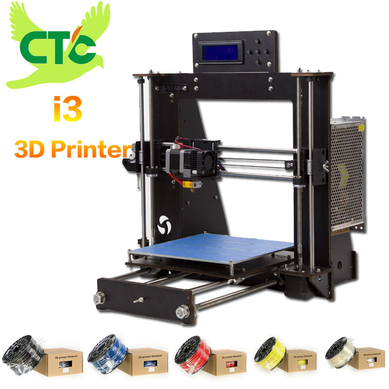 2018 NEW 3D Printer Prusa i3 Reprap MK8 DIY Kit MK2A Heatbed LCD Controller CTC