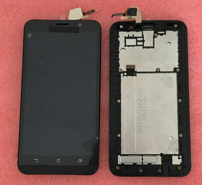 ФОТО LCD screen display+ touch panel digitizer with frame for 5.5'' Asus ZenFone 2 ZE550ML Z00BD Free shipping