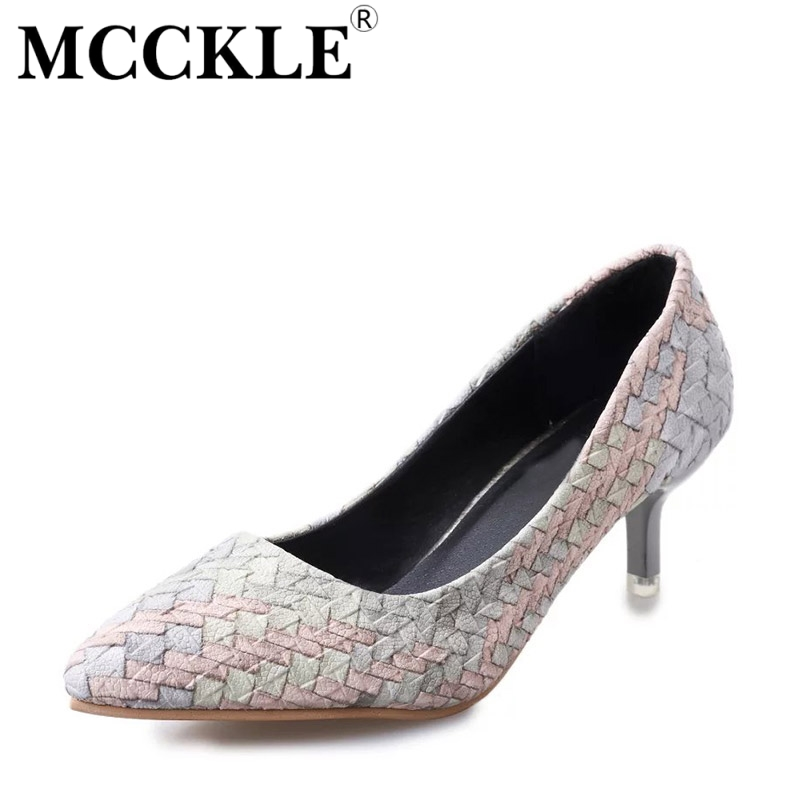 MCCKLE 2017 New Fashion Women Shoes Woman High Heels Pointed Toe Sexy Ladies Office Pumps Hot Sale Comfortable Casual mcckle 2017 fashion woman shoes flat women platform round toe lace up ladies office black casual comfortable spring