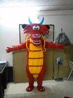 De alta calidad trajes de la mascota dragón en venta dragón Mushu Traje de la mascota Del Traje Del Personaje de Cosplay dragón Envío Gratis