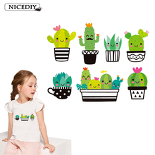 Nicediy Cartoon Animal Transfer On Clothes T-shirts DIY Cute Iron on Thermal For Clothing Printed Applique Decor Kids