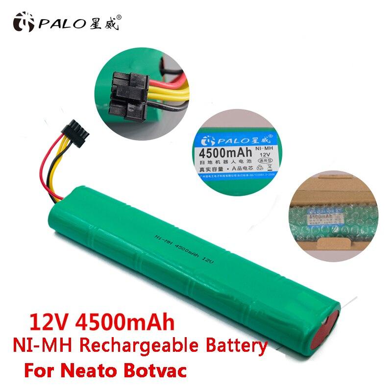 PALO 12 V Ni-MH 4500 mAh bateria de Substituição Da Bateria Recarregável Para Neato aspirador de pó robô Botvac 70e 75 D75 80 85 D85 D80