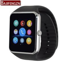GTZ08 reloj inteligente con pantalla táctil soporte Facebook sync SIM/tf GSM cámara Bluetooth Smartwatch Android teléfono