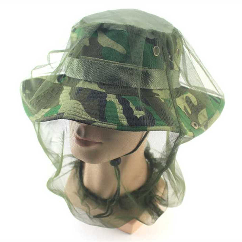 Safe Travel Camping Mesh Cap Midge Mosquito Insect Hat Bug Mesh Head Net Face Head Protector Mesh