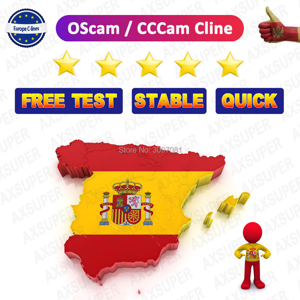 DVB-S2 CCcam Cline For 1 Year Europe OScam Servers CCcam Germany Spain For GT Media V9 Super Freesat V8 Nova DVB-S2 Receptor