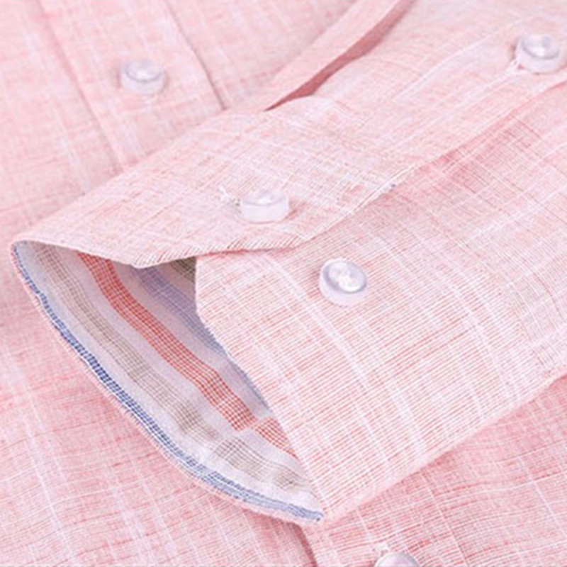Image 5 - 2019 New Spring Linen Casual Shirt Men Long Sleeve Classic Men's Dress Shirts Slim Fit Solid Color Man Fashion Shirt 3XL YN10011-in Casual Shirts from Men's Clothing