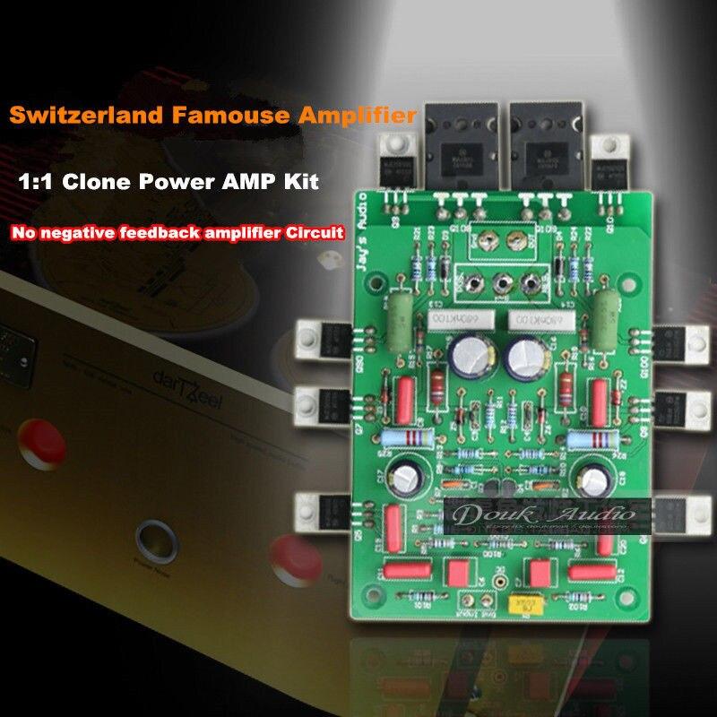 Douk Audio Non-NFB Amplifying Circuit 150W 2.0 Channel Power Amplifier DIY Kit 3pcs lot stk412 150 stk412 two channel shift power supply audio power amplifier ics 150w 150 w