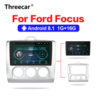 2din Android 8,1 автомобильный радиоприемник 9 дюймов gps навигация Bluetooth для 2005 2011 Ford Focu стерео Мультимедийный плеер авторадио
