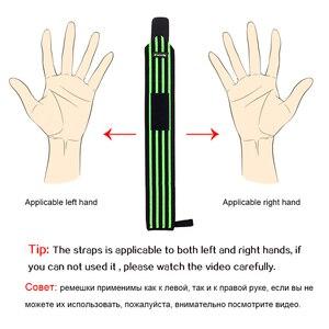 Image 5 - Palestra Fitness Sollevamento Pesi Bracciali Powerlifting Wristband Supporto per il Polso Elastico Avvolge Bende Brace per Sicurezza E Prevenzione Nello Sport