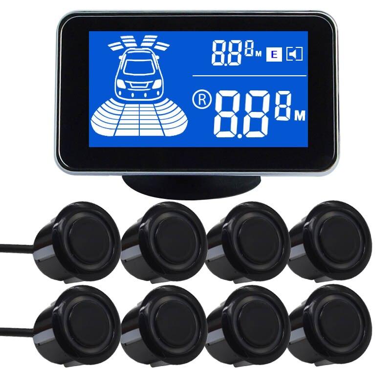 imágenes para 8/NY2020 sensores Car Kit Display LCD Sensor de Aparcamiento para todos los coches aparcamiento detector de ayuda al aparcamiento sensor de aparcamiento