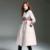 Produtos de qualidade Estilo Saia Longa das Mulheres Down Jacket 2017 Nova Chegada Botão Coberto Bordado O Pescoço Casaco de Inverno mulheres T1477