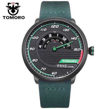 Unique Racing Car Design Leather Strap Luxury Wrist Watch