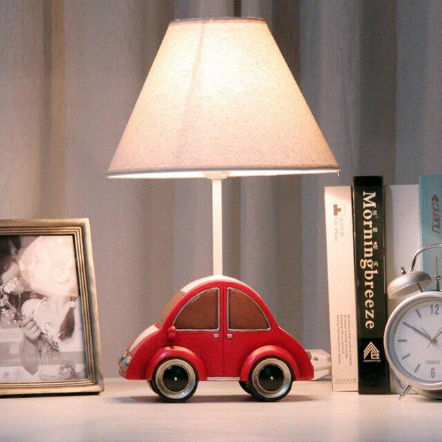 Детская Комната Модель Автомобиля Исследование Лампы Светодиодные E14 Дерева Стол лампа 110 В-220 В Led Настольная Лампа Ребенок Кнопку Выключателя Led Ночники лампы
