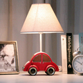 Children Room Car Model Study Lamp Led E14 Wood Desk Lamp 110V-220V Led Desk Lamp Child Switch Button Led Bedside Lamp