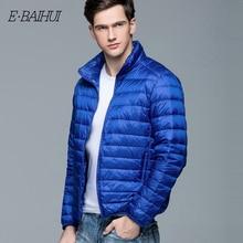 E-BAIHUI White Duck Down Men's Winter Jacket Ultralight Down Jacket Casual Outerwear Snow Warm Fur Collar Brand Coat Parkas 002