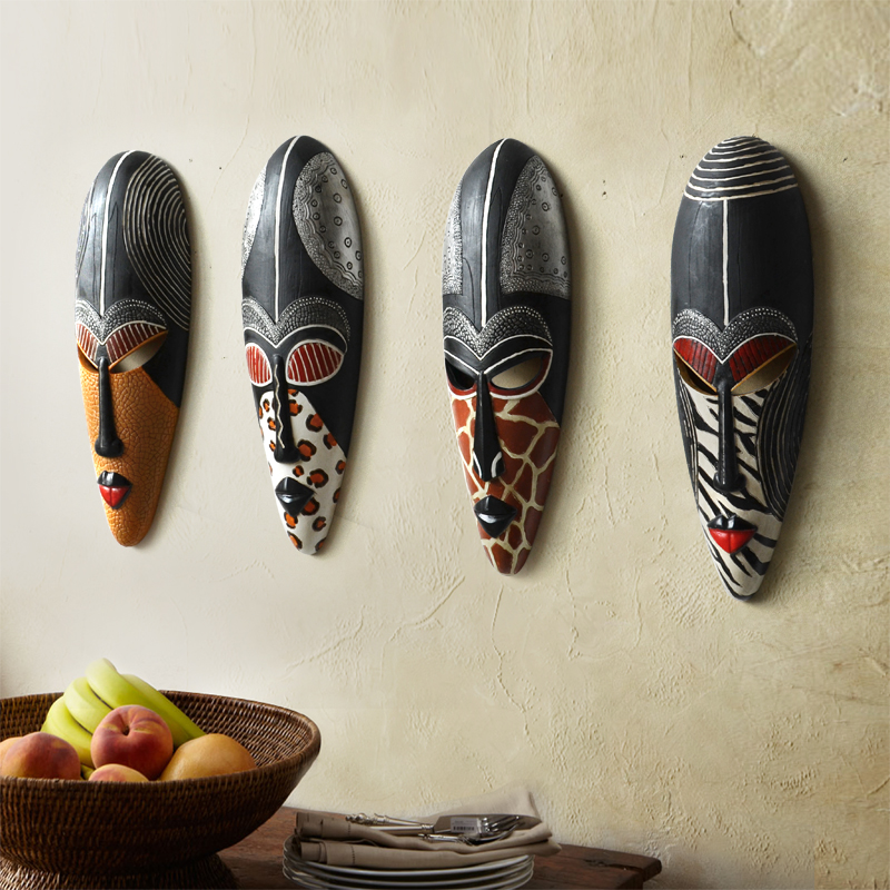 4PCS/SET Retro Resin Exotic African Masks Portraits Hanging Wall Mural Wall Hanging Ornaments Home Accessories Best Gift R2084PCS/SET Retro Resin Exotic African Masks Portraits Hanging Wall Mural Wall Hanging Ornaments Home Accessories Best Gift R208
