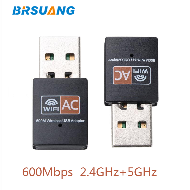 100pcs/lot BRSUANG Wireless Wifi Antenna PC Network Card Dual Band 2.4GHz+5GHz USB2.0 Adapter For Computer PC Macbook Desktop