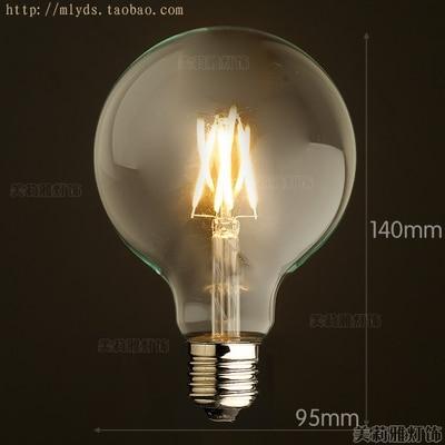 4 Вт E27 220 В светодиодный светильник для декора, лампада Эдисона, винтажный декоративный светильник с ампулами T10 G80 G95 ST64 T225 T30 - Цвет: Оранжевый