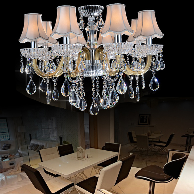 Contemporary chinese crystal chandeliers living room for Living room chandelier
