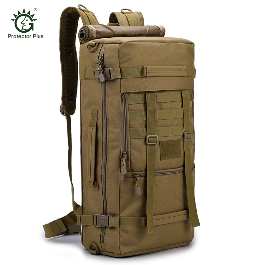 50 L Travel Backpack Outdoor Sports Bag Military Tactical Bags Hiking Camping Waterproof Wear-resisting Nylon Mountaineering Bag
