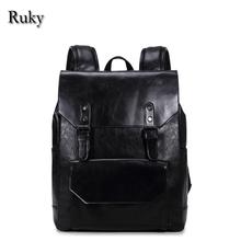 2016 New Casual High Quality Men Business Backpacks Fashion High Grade PU Leather Designer Men's Schoolbag Travel Laptop Bag