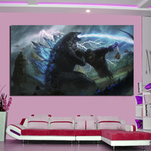 Monster War Wallpaper Wall Art Canvas Posters And Prints Canvas Painting Decorative Picture For Office Living Room Home Decor poster vintage wallpaper wall art canvas posters and prints canvas painting decorative picture for office living room home decor