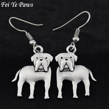Patas Fei Ye estilo Retro inglés perro Mastín pendientes colgantes Brincos grandes pendientes largos para las mujeres mejor regalo para Amiga joyería 2017
