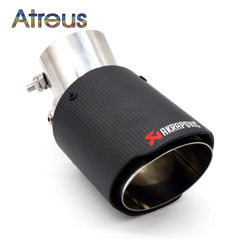 1 PCS Carbono Akrapovic tubo de Escape Do Carro Modificado Para Kia Rio K2 alma Ford Focus 2 3 Acessórios Chevrolet Cruze Aveo Citroen C4