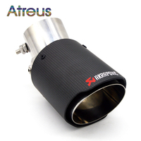 1PCS Akrapovic Carbon Car Exhaust Pipe Modified For Kia Rio K2 Soul Ford Focus 2 3 Chevrolet Cruze Aveo Citroen C4 Accessories
