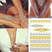 Metallic Waterproof Gold and Silver Bracelet Tattoo Stickers