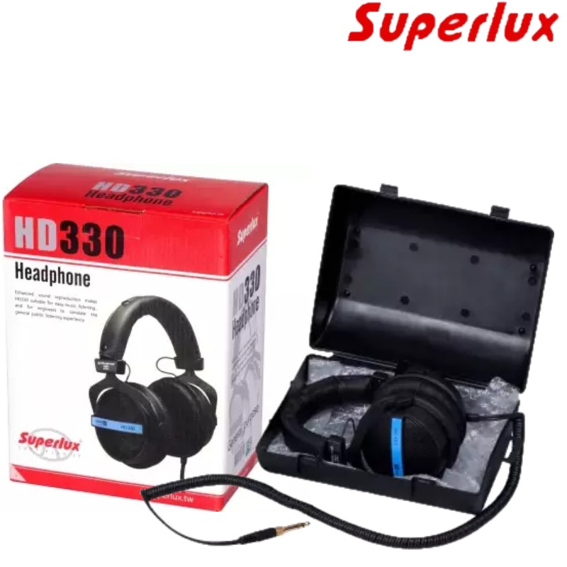 FREE SHIPPING Superlux HD 330 Semi open Dynamic Audiophile Headphones Earphone For Monitoring Music Entertainment DJ