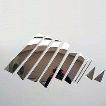 цена на Car Window Pillar Cover Trim for Nissan Qashqai J11 2014 2015 2016 2017 2018 2019 Stainless Car Styling Sticker Auto Accessories
