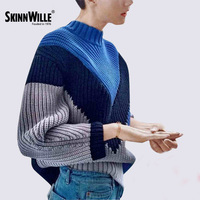 Skinnwille Autumn Winter Women Sweaters Pullovers Korean Style Long Sleeve Knitted Jumper Casual Crop Sweater Slim