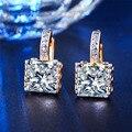 Позолоченные диаманта cz Большой AAA CZ Алмаз Обручальное Хооп Серьги для женщин Brincos Bijoux Классический Ювелирный Бесплатная Доставка
