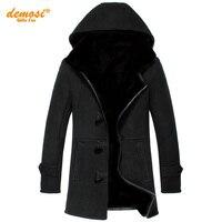 Фабрики прямые поставки 100% натуральный мех дубленка натуральная кожа пальто холодной женский мужчины 2016 зима новый толще меха с капюшоном