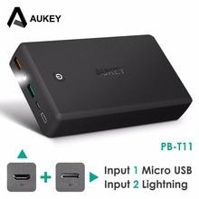 AUKEY 30000 mAh Banco de la Energía de Carga Rápida 3.0 Dual USB Powerbank Batería Externa QC3.0 Banco Portable de la Energía de carga rápida