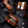 Luxury Business Style Zipper Wallet Style Mobile Phone Bag Cover Card Holder Vintage Leather Case For Samsung S6/S7 edge  Note 5
