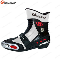 Riding tribe New Men motorcycle boots racing moto boots motorbike boots bota motocross racing shoes speed black Size 40-45