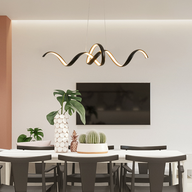 Di trasporto del nuovo Creativo LED Lampadari di Alluminio Nordic lampada lustre led lampadario moderno Per Soggiorno camera da letto Sala Da Pranzo lampadario illuminazione a led