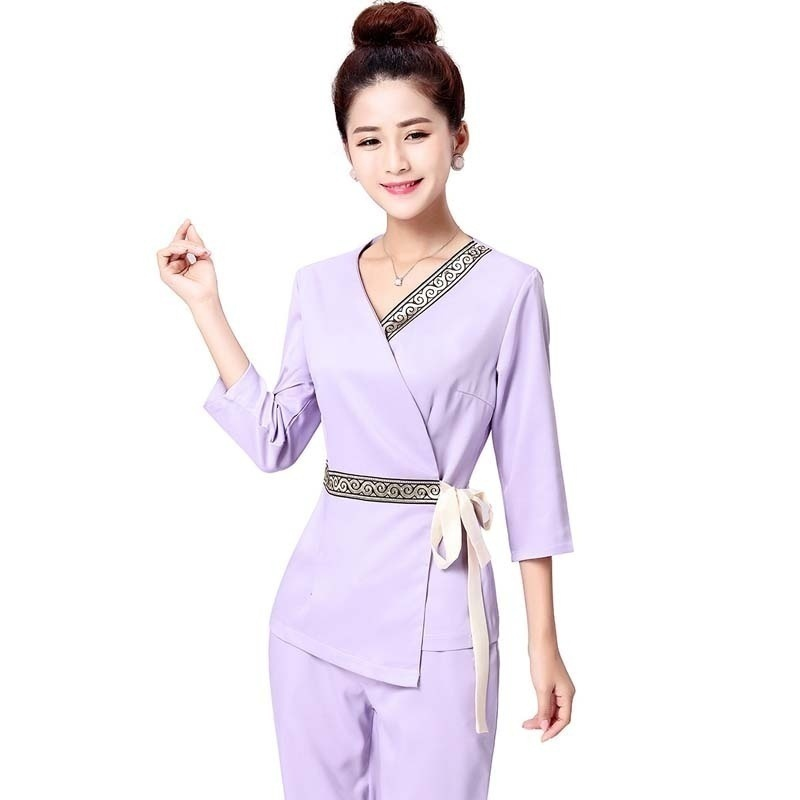 Women's Trendy Waistband Scrubs Set/Medical Uniforms/ Beauty Parlor/Spa Club Tunics/High Quality|Scrub Sets| |  - title=