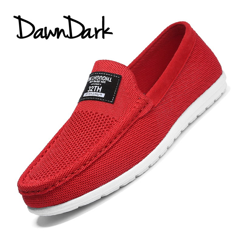 Men Shose Fashion Spring Summer Male Mesh Shoes Casual Low Lace Flat Slip on Man Sneakers Zapatos Hombre Red Black ...