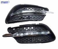 High Quality DRL Daytime Running Light Daylight Fog Head Lamp For Mercedes BENZ W204 C260 C300