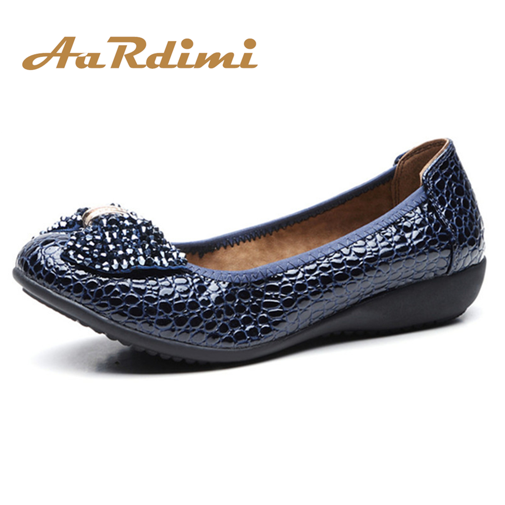 New Arrival Rhinestones Spring Women Shoes Leisure Black&Blue Ballet Flats Shoes Fashion Solid Bowtie Loafers Women Flat Shoes 2018 new summer shoes women fashion women s shoes comfortable flat shoes gs533 1 new arrival flats shoes women flats