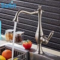 Luxury Brushed Nickel/Black/Gold Kitchen Faucet Mixer Vintage European Kitchen Mixer Water Faucet 360 Swivel Kitchen Mixer Tap