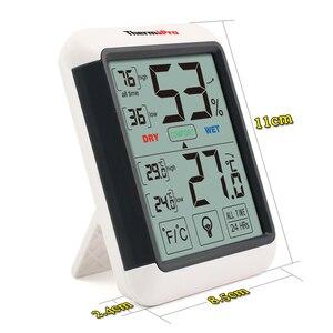 Image 3 - Thermopro タッチスクリーンとバックライトと TP55 デジタル湿度計温度計室内温度計湿度温度センサー